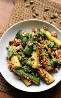 70+ Best Zucchini Recipes (Roasted Zucchini and Quinoa Bowls Recipe)   SnappyGourmet.com
