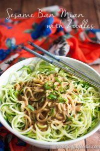 70+ Best Zucchini Recipes (Sesame Ban Mian Zoodles Recipe)   SnappyGourmet.com