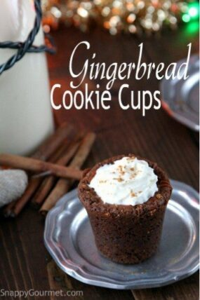 Gingerbread Cookie Cups Recipe   SnappyGourmet.com