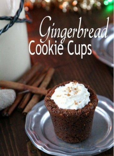 Gingerbread Cookie Cups Recipe | SnappyGourmet.com
