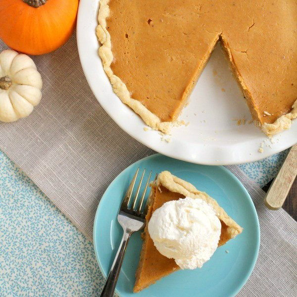 Triple Spice Pumpkin Buttermilk Pie - Frugal Foodie Mama
