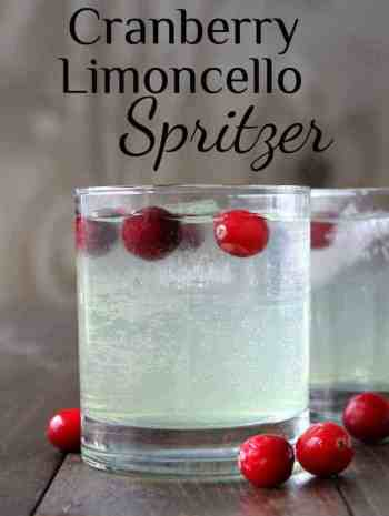 Cranberry Limoncello Spritzer Cocktail Recipe - an easy Limoncello drink recipe. SnappyGourmet.com