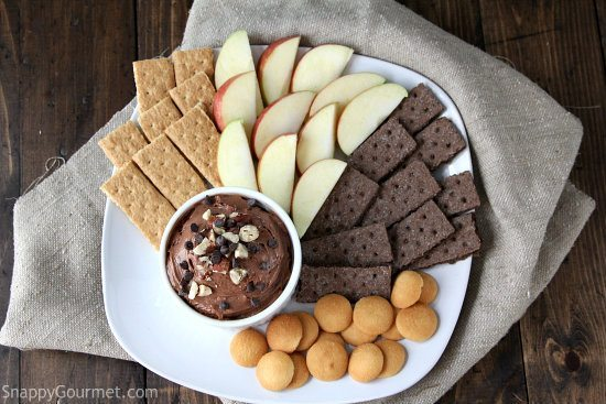 Nutella Cheesecake Dip, an easy dessert recipe! SnappyGourmet.com