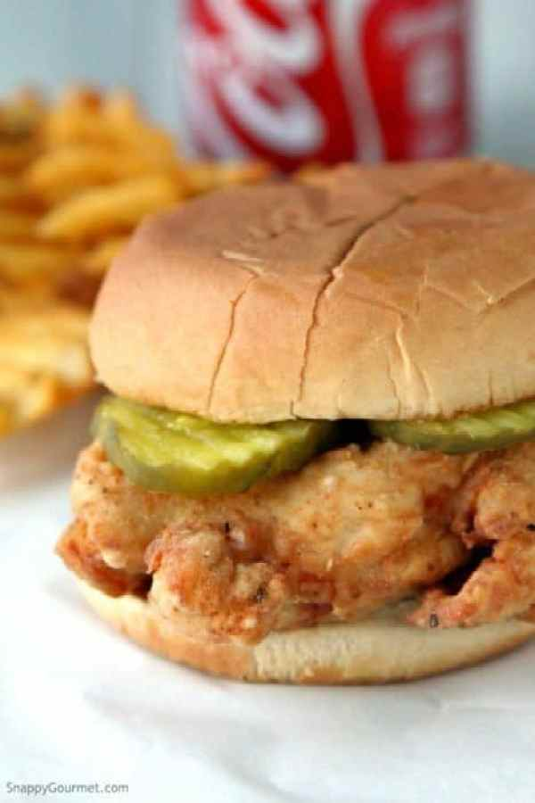 Chick-fil-A Sandwich copycat recipe, make your own fried chicken sandwich from the fast food restaurant! SnappyGourmet.com