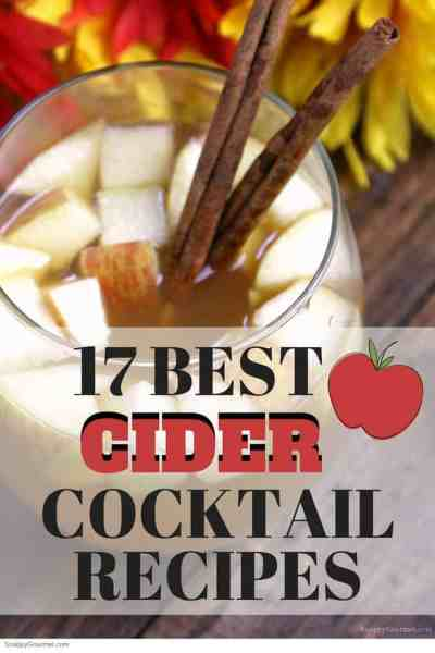 17 Best Cider Cocktail Recipes | SnappyGourmet.com #cider #cocktails