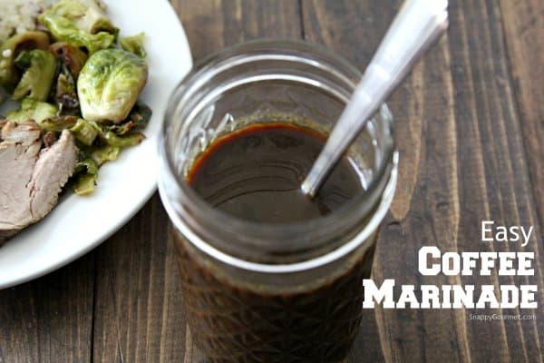 Easy Coffee Marinade Recipe - quick meat marinade for beef or pork | SnappyGourmet.com