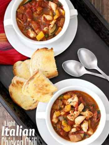 Light Italian Chicken Chili Recipe
