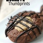 Buckeye Thumbprint Cookies - The best thumbprint cookie recipe ever with chocolate and peanut butter. SnappyGourmet.com