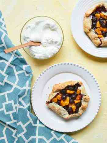 Mini Blueberry Peach Crostatas Recipe
