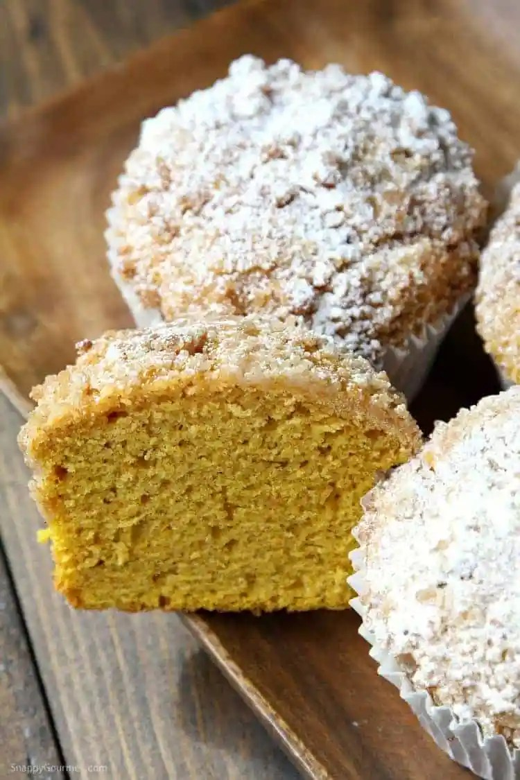 Panera Pumpkin Muffin Recipe - easy copycat recipe for their jumbo muffins! SnappyGourmet.com