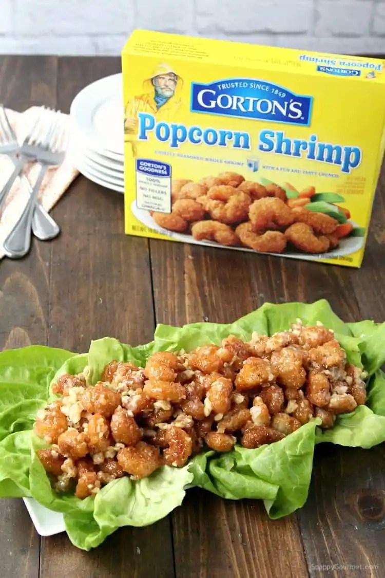 Easy Honey Walnut Popcorn Shrimp Recipe with Gorton's Seafood - SnappyGourmet.com