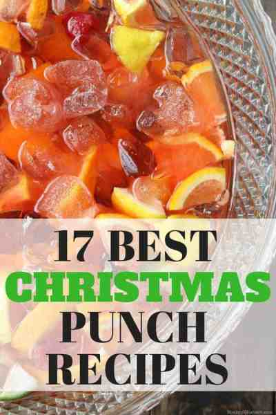 17 Best Christmas Punch Recipes - great list of holiday punch recipes including alcoholic punch recipes and nonalcoholic punch recipes. SnappyGourmet.com