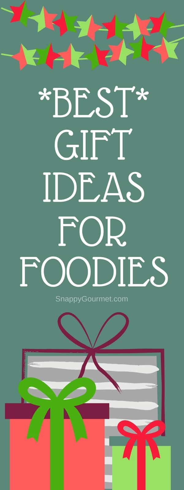 12 Days of Christmas Gift Ideas for all the foodies in your life! Some of the best foodie gifts including candy gift ideas, experience gift ideas, kitchen gadget gift ideas, and more! #Christmas #Foodie #Gifts #SnappyGourmet