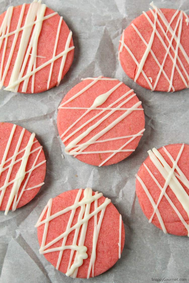 Strawberry Daiquiri Cookie Recipe - easy strawberry sugar cookie with strawberry jello, lime and rum! SnappyGourmet.com