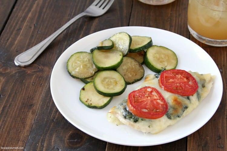 Easy Baked Chicken Florentine Recipe - easy boneless chicken breast dinner idea! SnappyGourmet.com