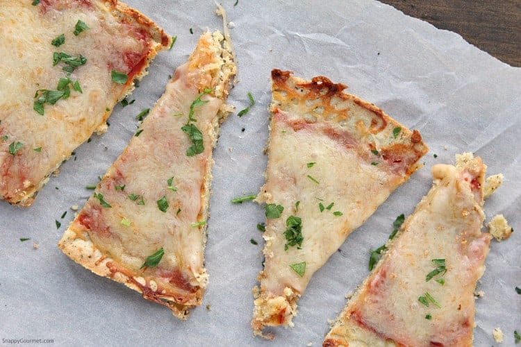 Almond Flour Pizza Crust pizza slices