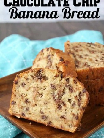 Easy Chocolate Chip Banana Bread Recipe (One-Bowl)