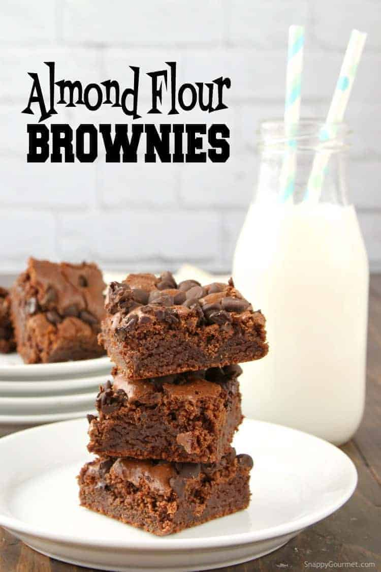 Almond Flour Brownies Recipe - homemade gluten free chocolate brownies that are easy to make and fudgy!