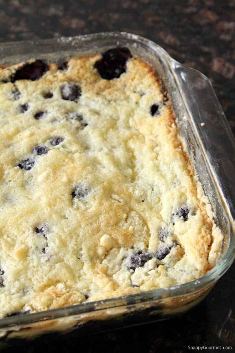 Blueberry Dump Cake Recipe - how to make blueberry dump cake with blueberries and cake mix