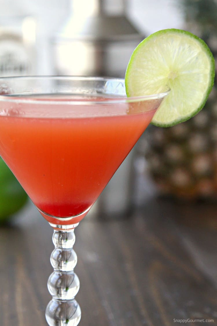 Cherry Matador Cocktail recipe - easy Mexican cocktail with tequila.