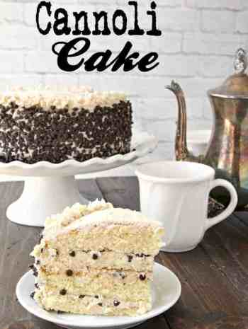 Cannoli Cake Recipe - the best cannoli cake with simple ingredients that can easily be made from scratch