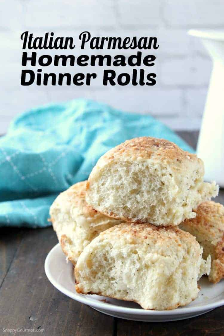 from scratch dinner rolls on plate