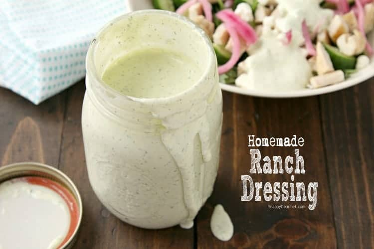 Homemade Ranch Dressing - how to make the best homemade ranch dressing