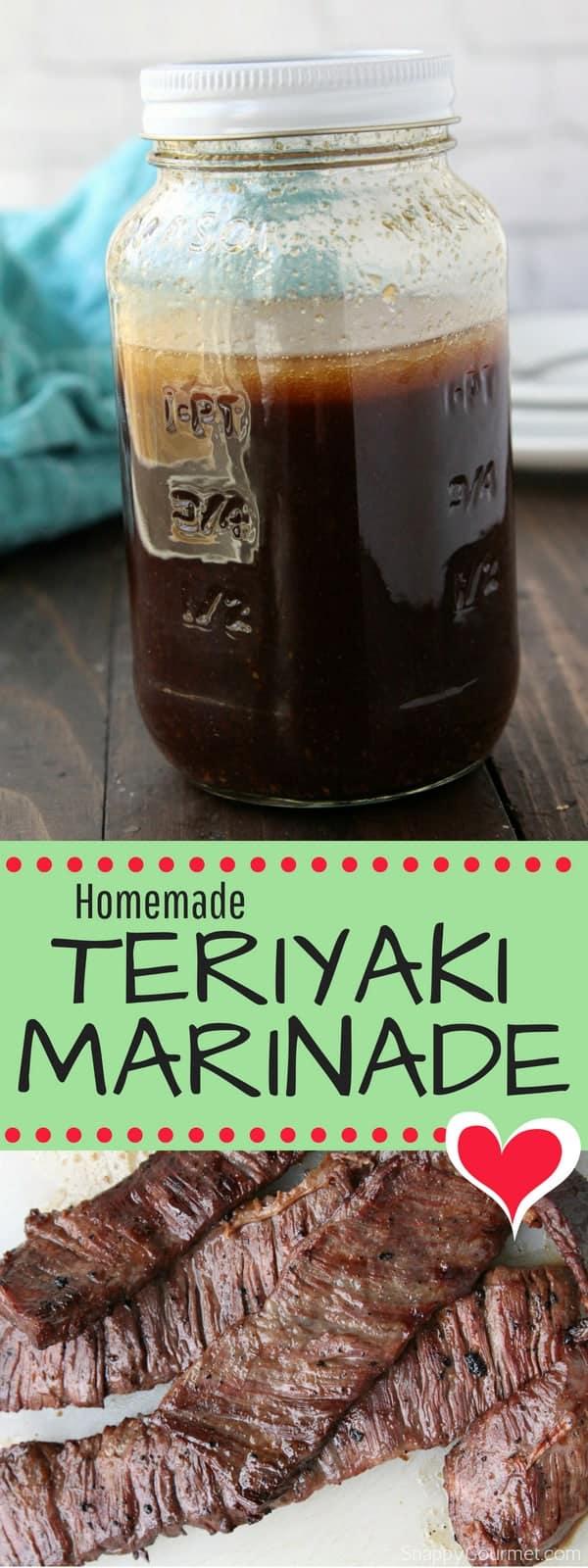 Homemade Teriyaki Marinade recipe, a quick an easy marinade for chicken, steak, or pork. Learn how to make teriyaki marinade in no time! #Teriyaki #Marinade #Recipe #SnappyGourmet #Asian #Steak #Beef #Pork #Chicken