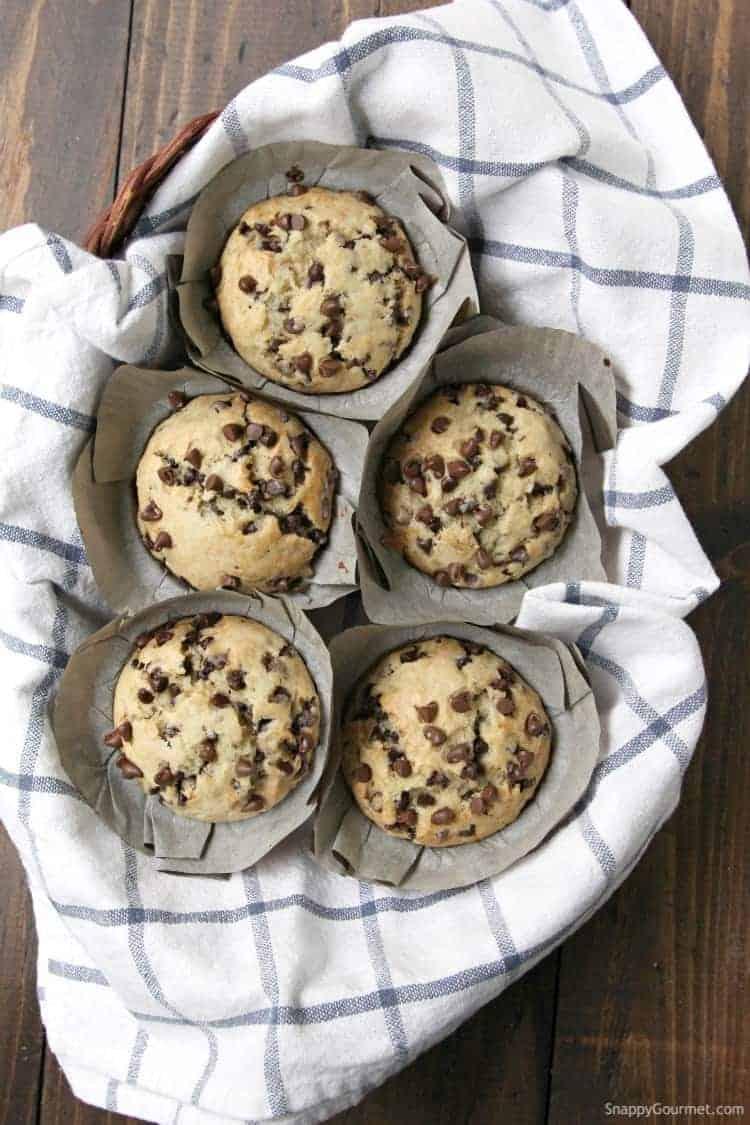 Chocolate Chip Banana Bread Muffins recipe - how to make muffins with banana and chocolate chips