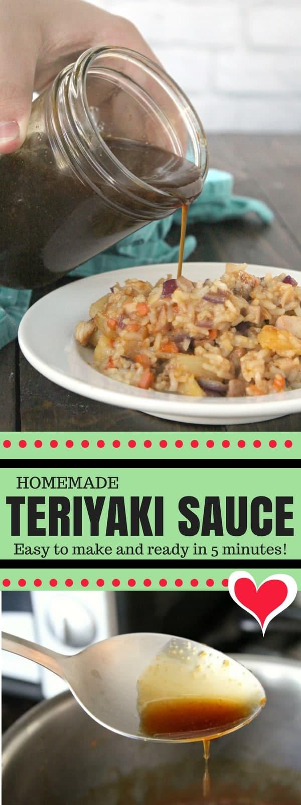Homemade Teriyaki Sauce - easy homemade recipe and the best for grilled chicken, pork, beef (steak), burgers, stir-fries and more! #Recipe #Teriyaki #Asian #SnappyGourmet #Chicken #Steak #Easy #Homemade