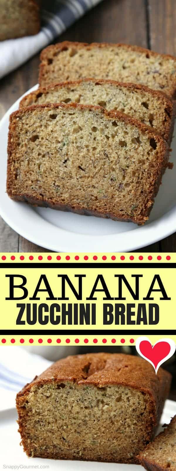 Banana Zucchini Bread - easy zucchini bread recipe