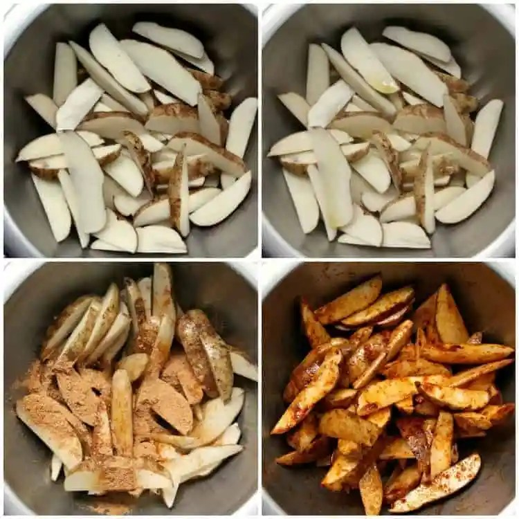 Oven Baked Potato Wedges - homemade potato wedges with a little olive oil and taco seasoning