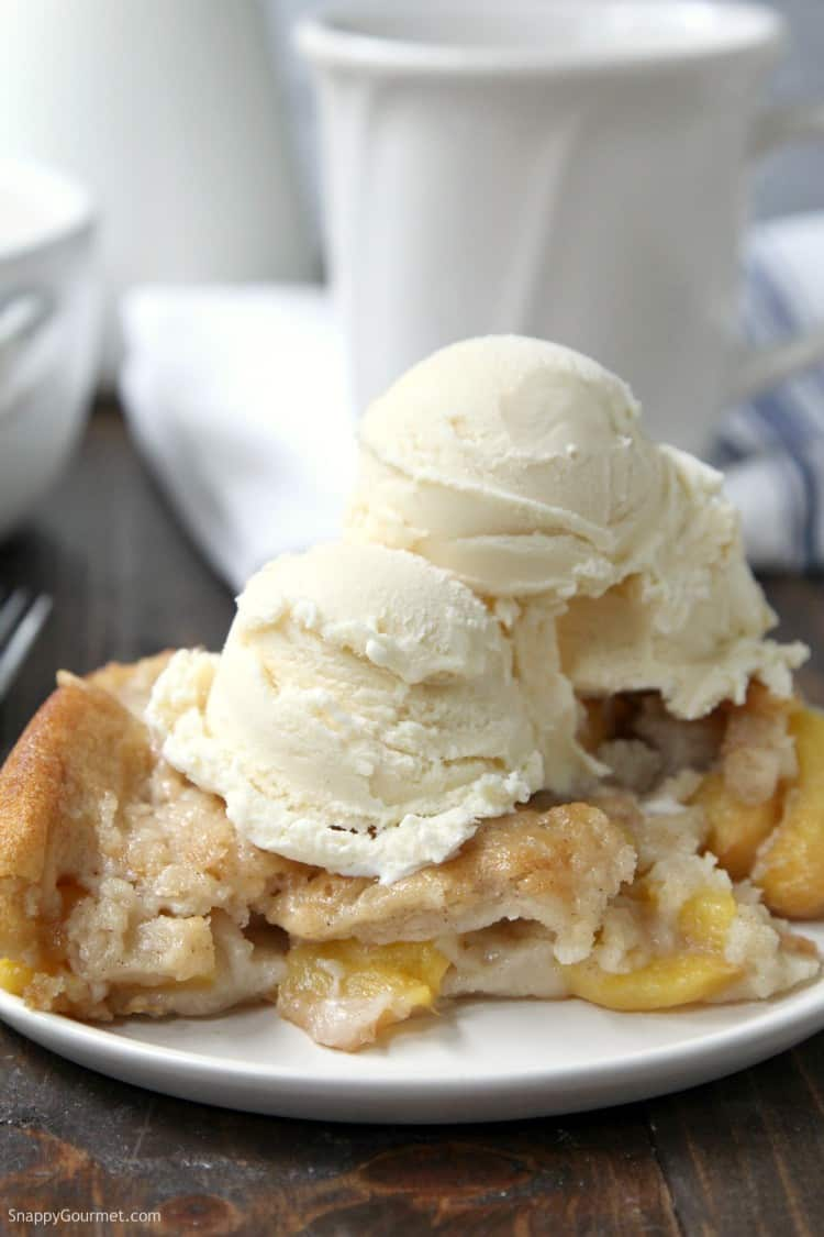 Simple Peach Cobbler - easy from scratch peach cobbler with fresh peaches