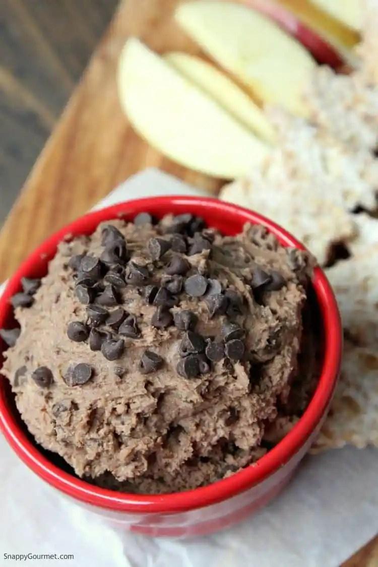 Chocolate Cannoli Dip - cannoli dip recipe with mascarpone, ricotta, and chocolate