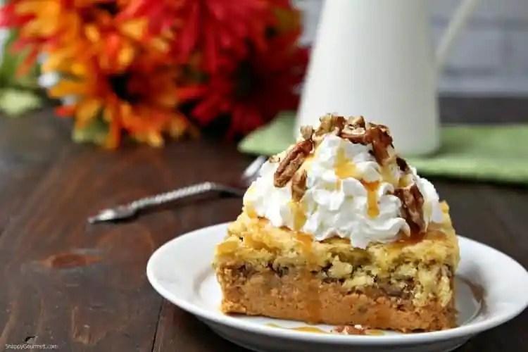 Pumpkin Dump Cake - recipe for a cross between cake and pumpkin pie
