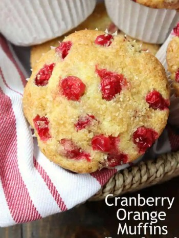 Cranberry Orange Muffins - copycat recipe for Panera Cranberry Orange Muffins