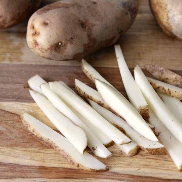 Truffle Fries - how to cut potatoes