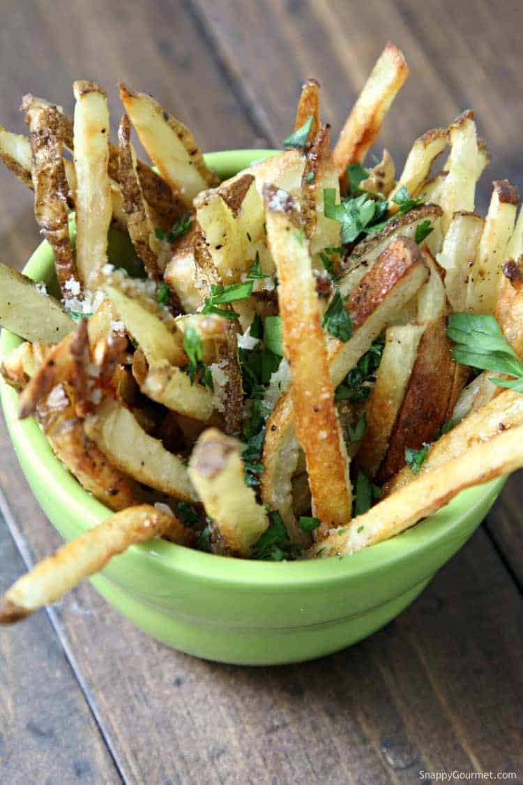 Truffle Fries - easy truffle fries recipe for the oven