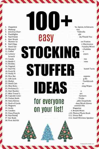 list of stocking stuffer ideas