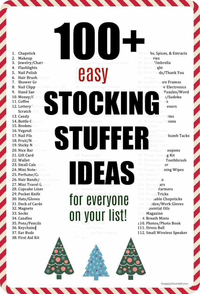 list of stocking stuffer ideas