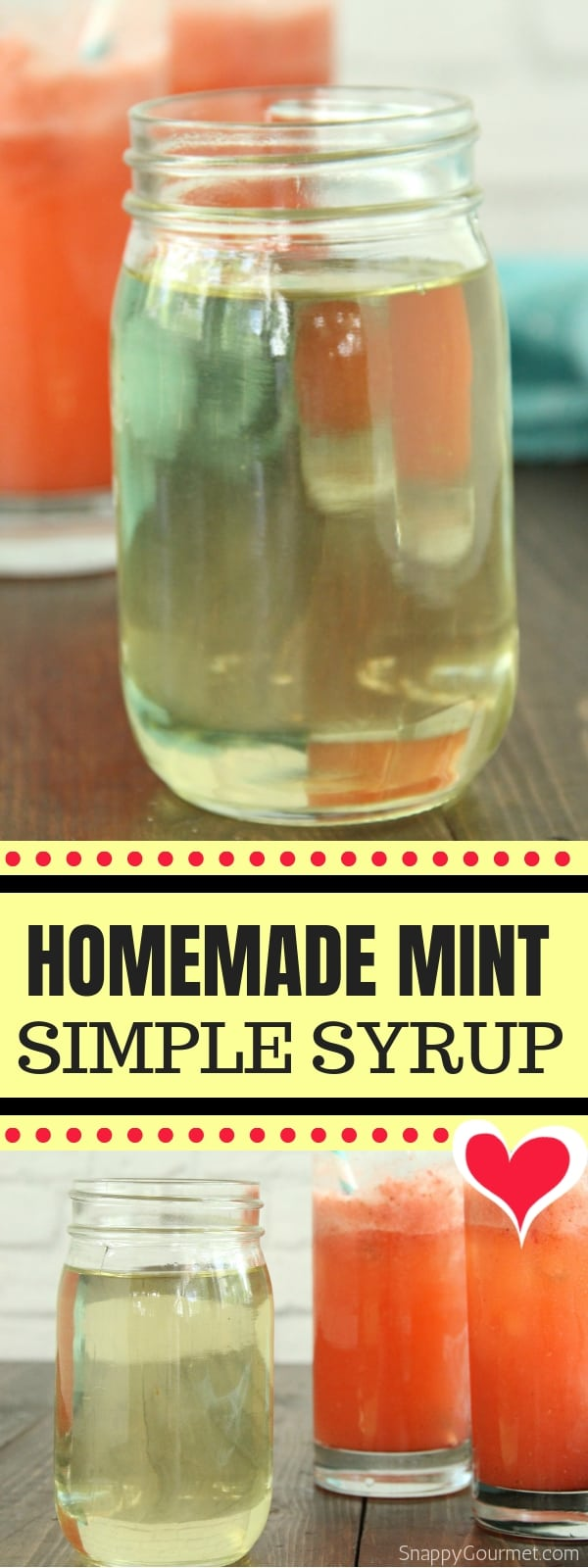 Mint Simple Syrup photo collage