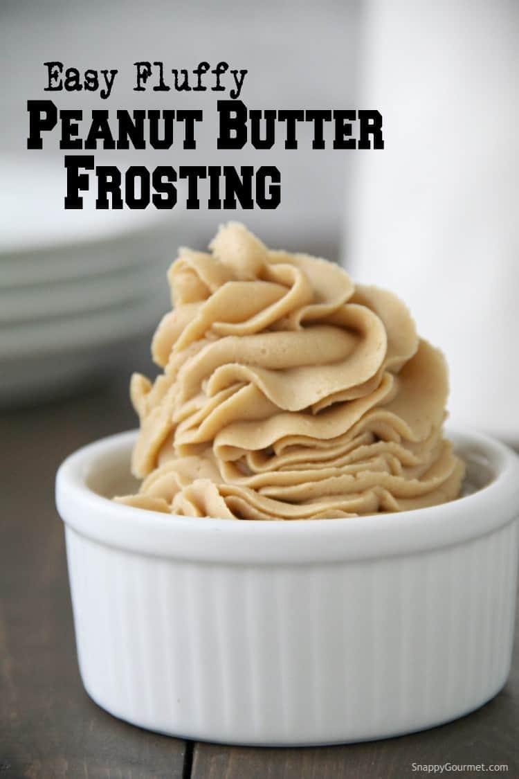 Peanut Butter Frosting in white ramekin