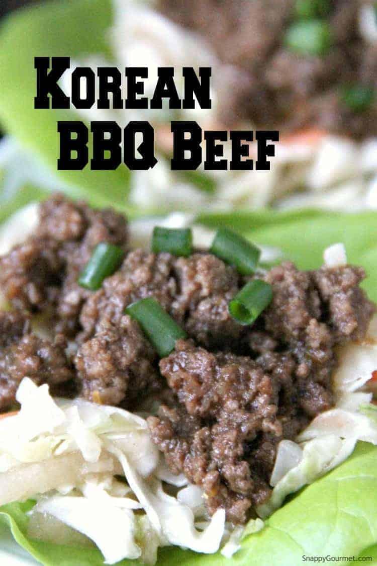 Korean BBQ Beef in lettuce wrap