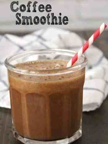 coffee smoothie in glass
