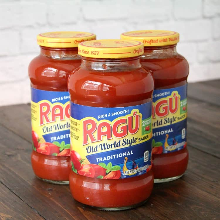 Ragu tomato sauce for Italian Sloppy Joes