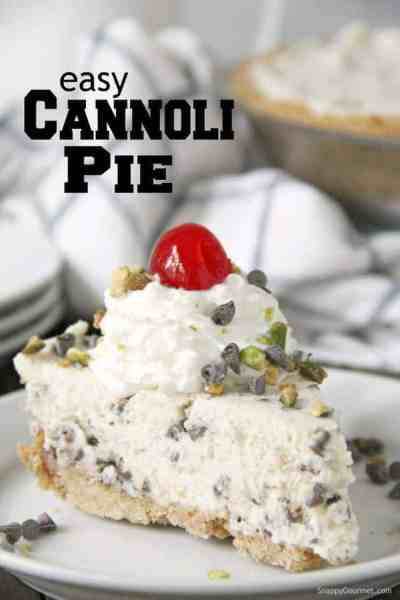 slice of cannoli pie on plate