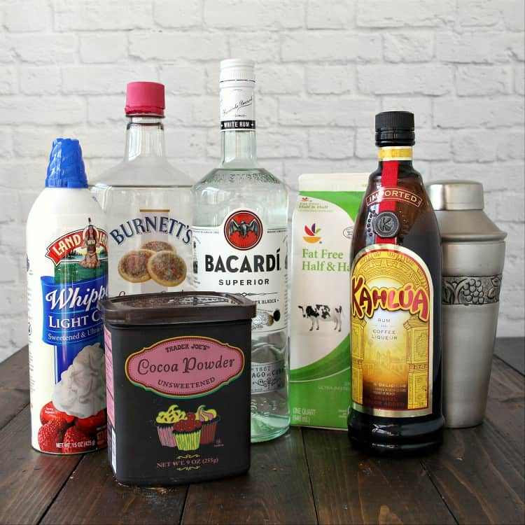 Tiramisu Martini ingredients