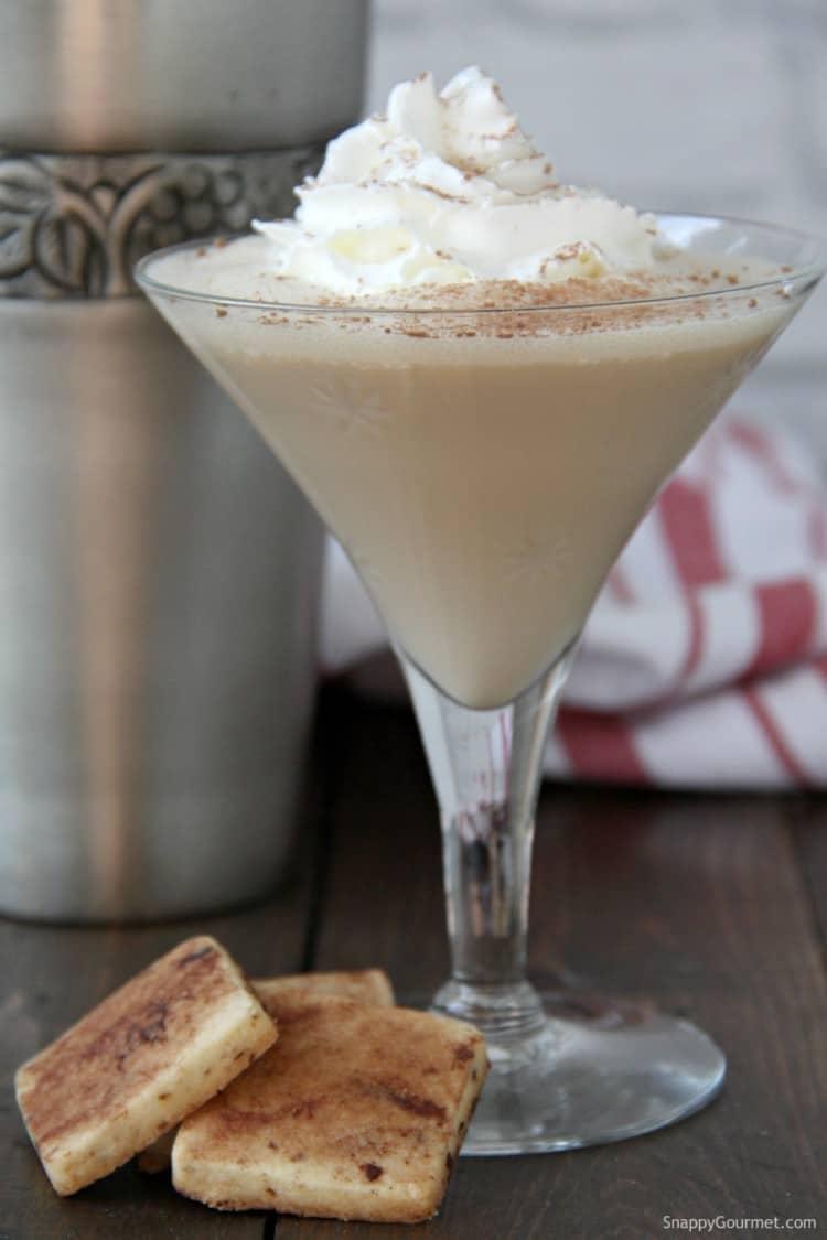 Tiramisu Martini in glass with whipped cream
