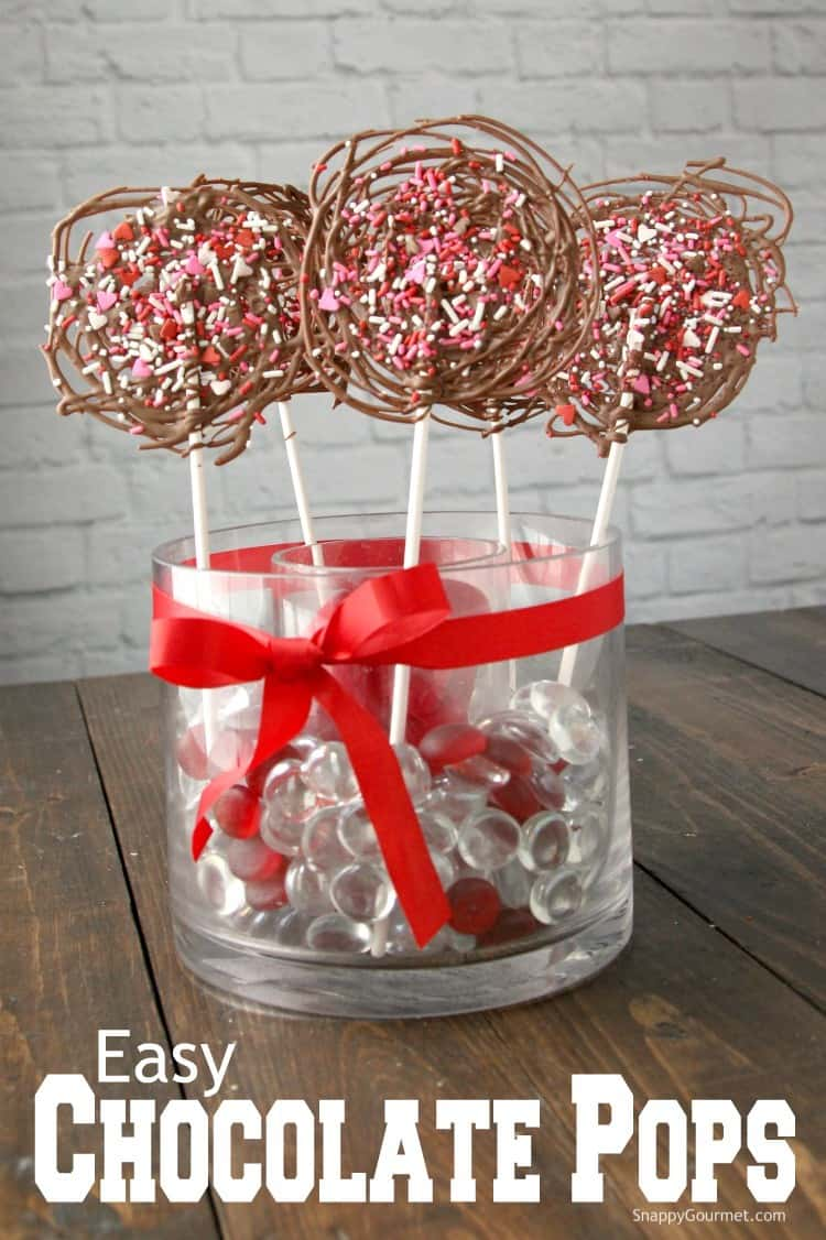 Chocolate Candy Pops in jar