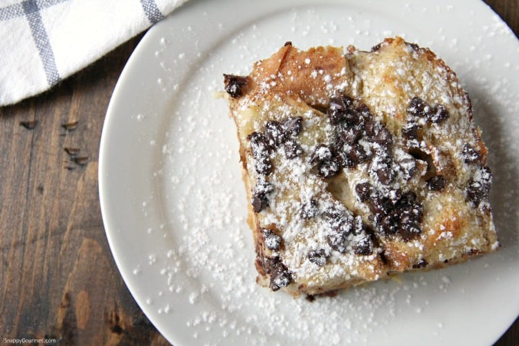 top view of Cannoli French Toast